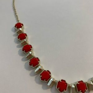 Bright red Kendra Scott necklace
